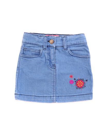 Corsários Curta  Jeans Throttleman Rapariga Ganga Azul Clara