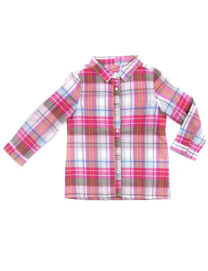 Camisa Manga Comprida Casual Throttleman Rapariga Multicolorido