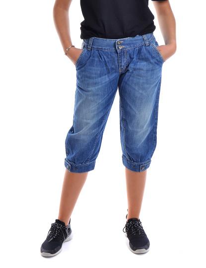 Corsários Com Pregas Jeans Throttleman Azul