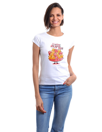 T-Shirt Slim Fit Funny Aniversario Throttleman Branco