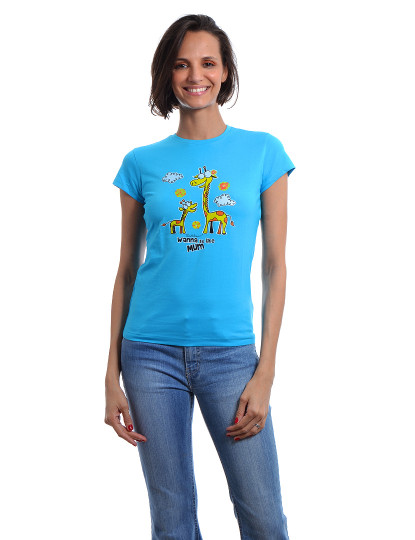 T-Shirt Regular Fit Mãe Throttleman Turquesa