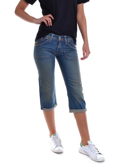 Calções Médios Jeans Throttleman Azul