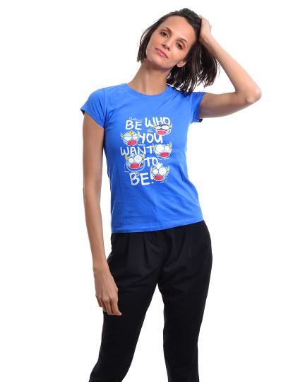 T-Shirt Regular Fit Funny Throttleman Azul