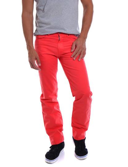 Calças Casual 5 Bolsos Throttleman Homem Vermelho