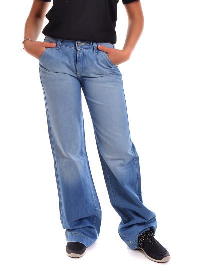 Calças Sem Pregas Jeans Throttleman Azul