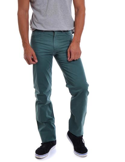Calças Casual 5 Bolsos Throttleman Homem Verde Cinza