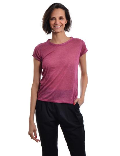 T-Shirt Regular Fit Casual Throttleman Rosa
