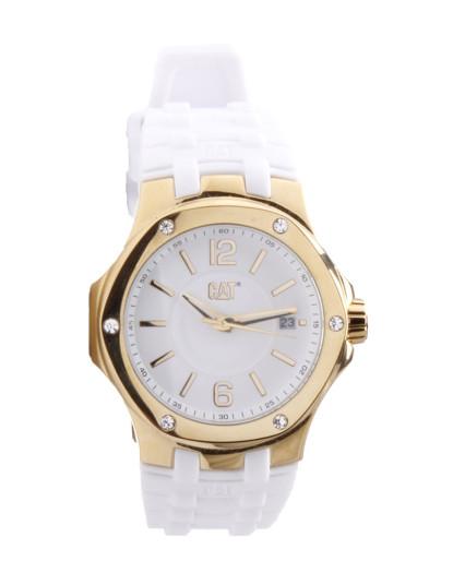 5e48295ec95 Relógio Cat Senhora Branco Dourado