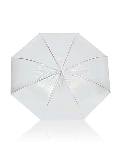 Chapéu-De-Chuva Transparente / Branco