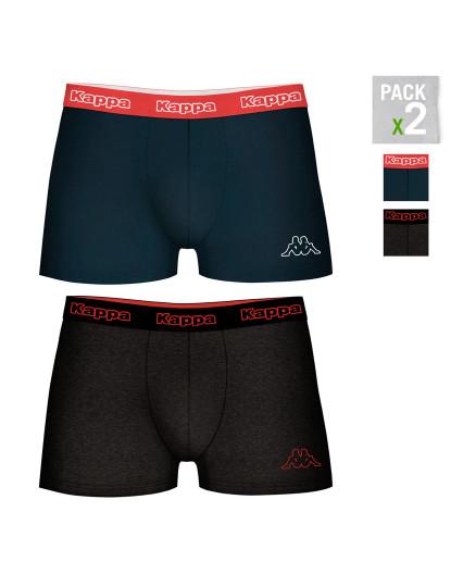 Pack 2 Boxers Kappa Azul Marinho / Cinza Escuro
