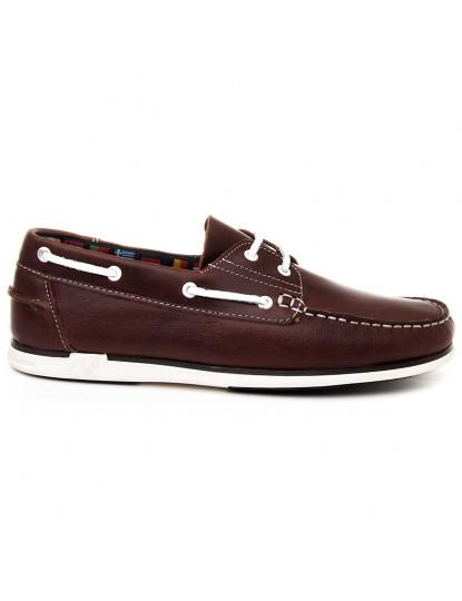 Sapatos de Vela Natural1 Sachini Homem Castanho