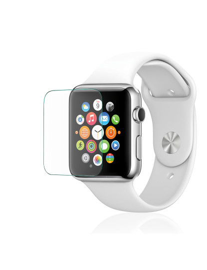 Pack Armor p/ Apple Watch 42mm: Capa gel transparente + Película de cristal