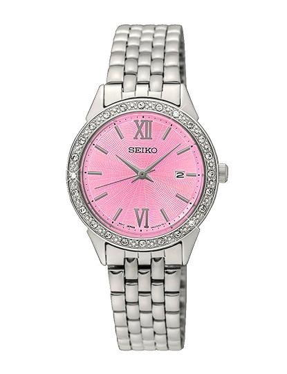 053818485bf Relógio Seiko Quartz Classic Prateado e Rosa