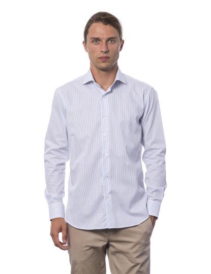 Camisa Slim Fit Trussardi U12 Azul claro
