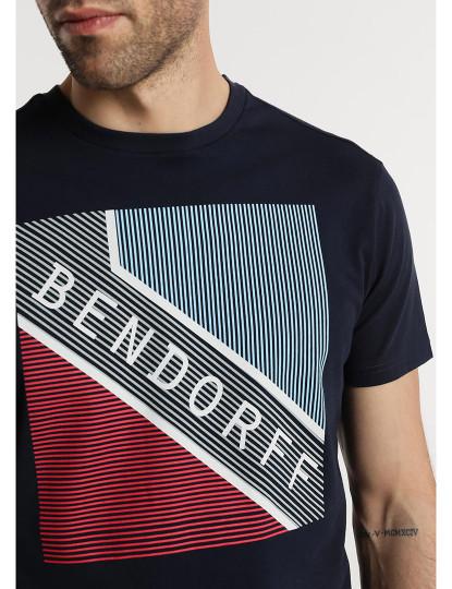 T-shirt Gráfica Bendorff Bendorff Homem Azul