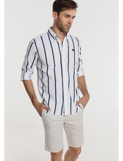 Camisa Riscas Bendorff Homem Branco