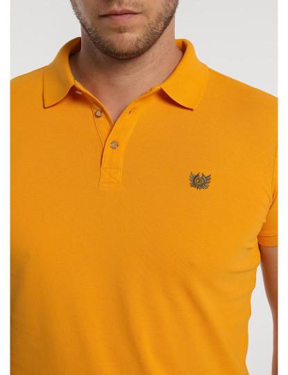 Pólo Básico Pique Logo Bordado Bendorff Homem Laranja