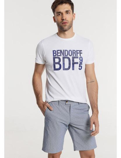 Bermudas Chino Tecido Motivos Bendorff Homem Azul