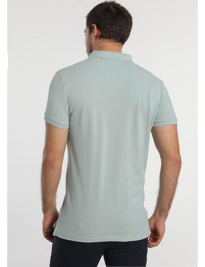 Pólo Básico Pique Logo Bordado Bendorff Homem Azul