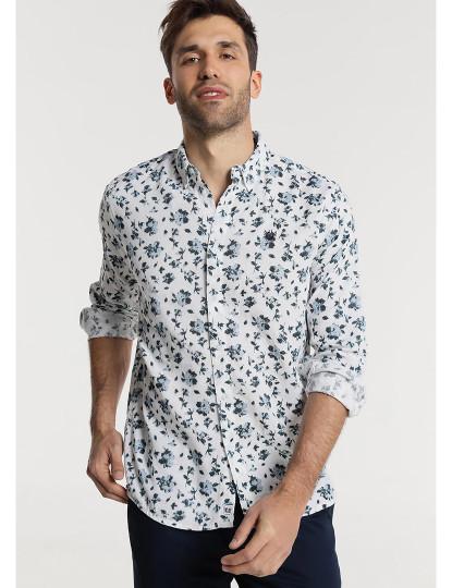 Camisa Estampada Flores Bendorff Homem Branco