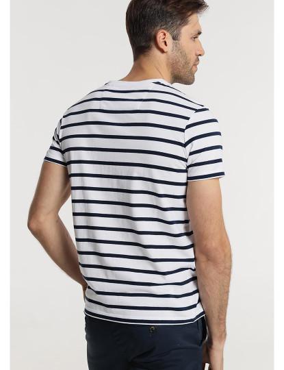 T-shirt Riscas Bendorff Homem Azul