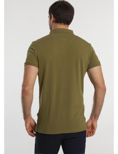 Pólo Básico Pique Logo Bordado Bendorff Homem Verde