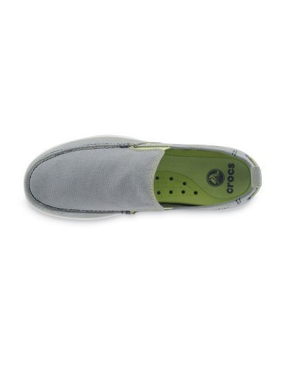 Sapatos Crocs Walu Men Cinza Claro e Branco