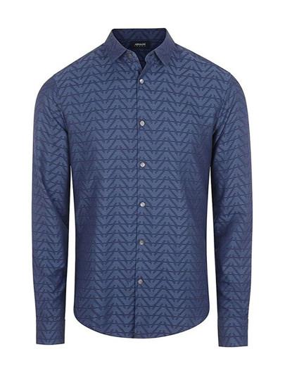 Camisa Emporio Armani Homem Fantasia Azul
