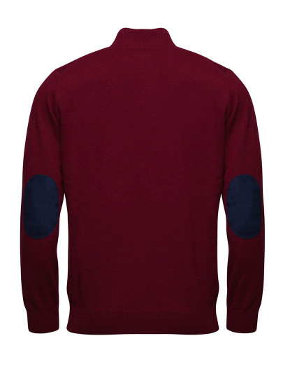 Pullover Lã Liso Gola Com Zipper Mr Blue Vermelho Mr Blue Vermelho