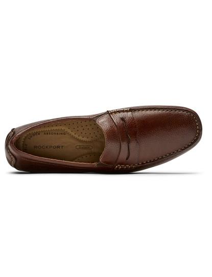 Sapatos Rockport Homem Rhyder Penny Mahogany