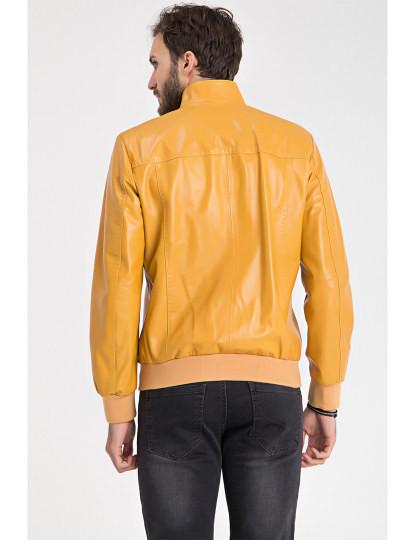 Blusão de Pele Iparelde Amarelo