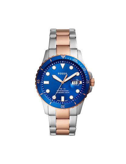 Relógio Traditional Fossil Homem 2Tons Prateado/Rosa