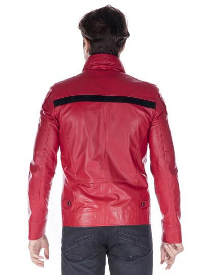 Casaco de Pele Giorgio di Mare Homem Vermelho