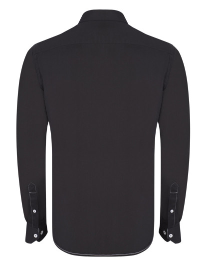 Camisa Giorgio di Mare Homem Preto