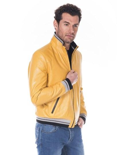 Casaco de Pele Giorgio di Mare Amarelo