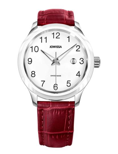 Relógio Jowissa Unisexo Tiro Aço e Branco e Vermelho