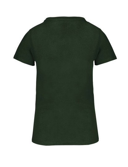 T-Shirt Homem Bio150 Decote Redondo Verde floresta