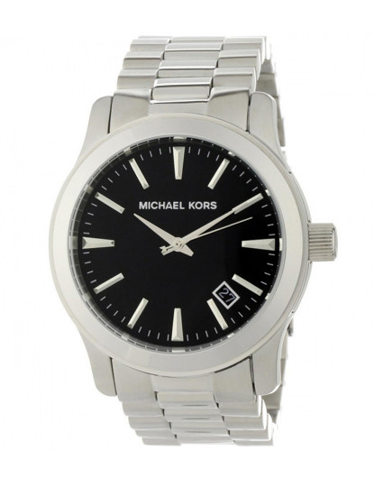 Relógio Homem Prateado&Preto