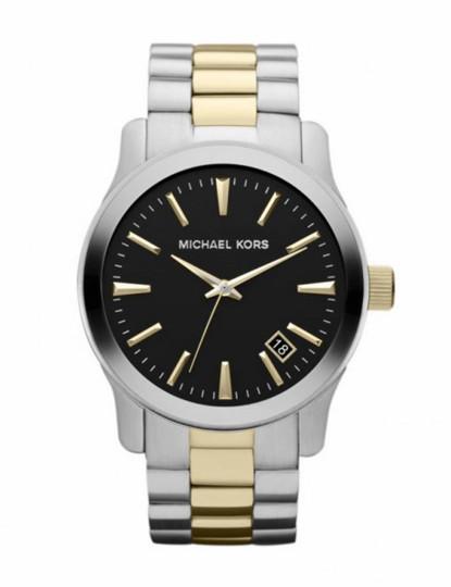Relógio Michael Kors de Homem Preto e Prateado