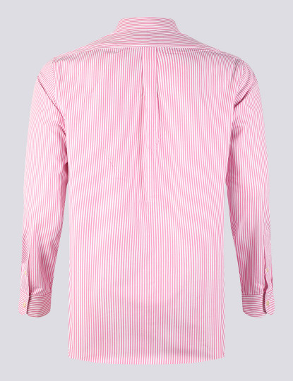 Camisa Ralph Lauren Homem Rosa/Branco