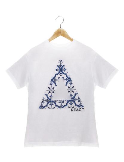 T-shirt Blue Tile Reaction M