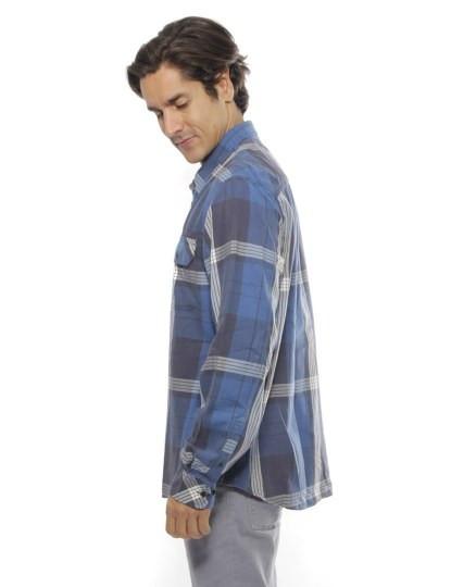 Camisa Timberland Manga Comprida Check Shirt Azul