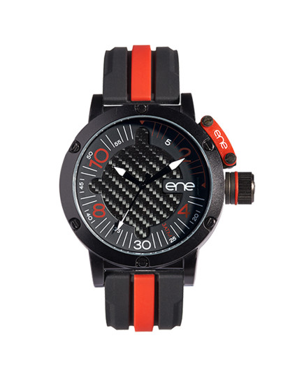 Relógio Ene 105 Edition Preto & Vermelho