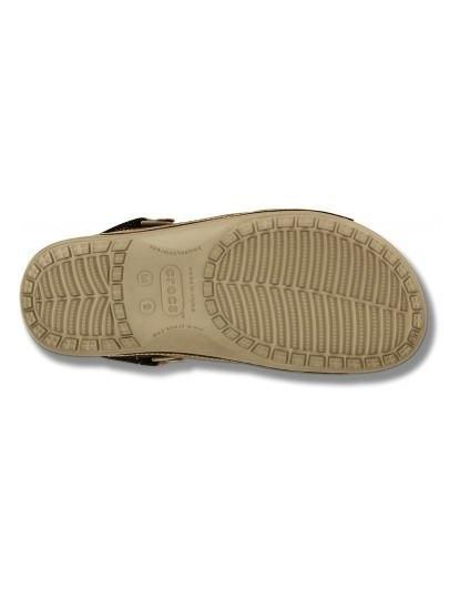 Sandália Crocs Yukon Two-strap Khaki e Espresso