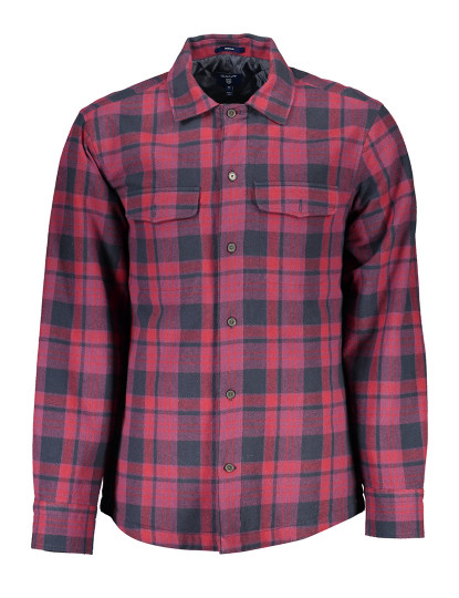 Camisa Manga comprida Gant Homem Violeta