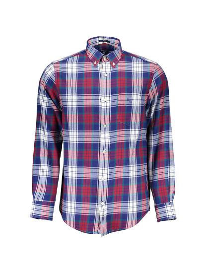 Camisa Manga Comprida Gant Homem Vermelho