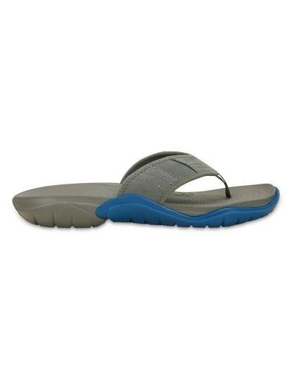 Chinelo Crocs Swiftwater Flip Cinzento e Azul