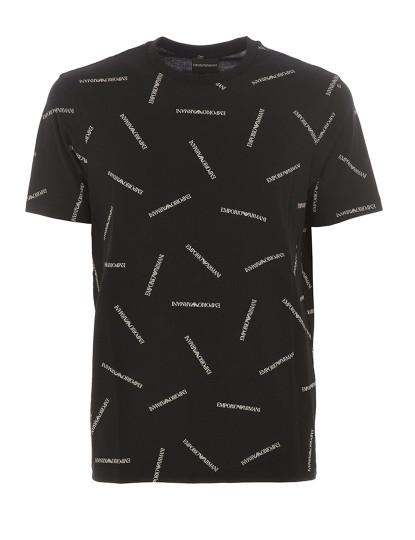 T-Shirt Emporio Armani Homem Padrão