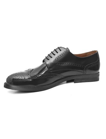 Sapatos Derby El Caballo Homem Sola Pele Preto