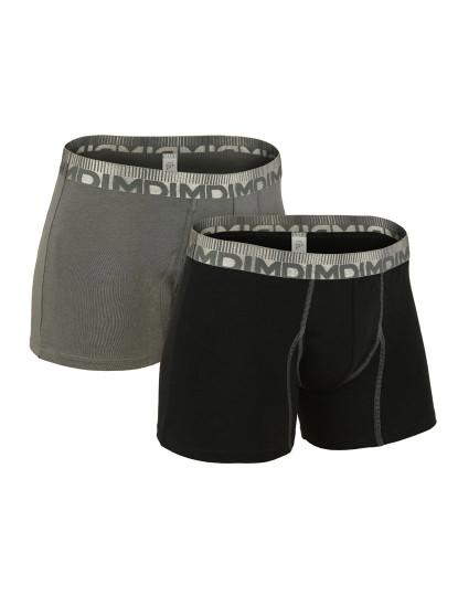 Pack de 2 Boxer Dim 3D Flex Morphotech Cinza e Preto